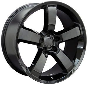 "20"" Dodge Charger SRT 8 Challenger 300 Mopar Replica Wheels Rims Gloss Black 4"