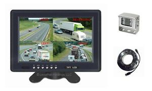 "9"" One Camera Color Rear View Backup System Quad RV Semi Truck Tractor Trailer 1"
