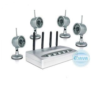 2 4GHz Network IR Wireless Security Kit Surveillance System Camera USB DVR