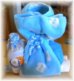 "Diaper Cake Newborn Baby ""Stork"" Bundle Boy Baby Shower Gift"