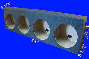 "Chevy Silverado Regular Cab 4 Hole 12"" Grey Wedge Subwoofer Sub Enclosure Box"