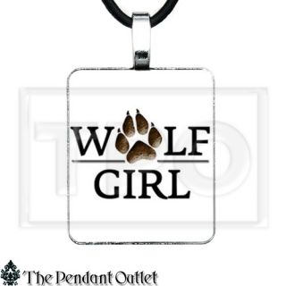 Wolf Girl Paw Werewolf True Blood Vampire NCSU Jewelry UK Charm Pendant Necklace