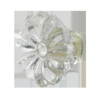 As Many Shabby Chic 3 5cm Glass Clear Flower Door Knobs Handles Pulls
