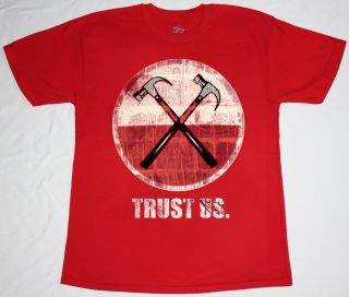 Roger Waters Trust US Pink Floyd Progressive Psychedelic Rock New Red T Shirt