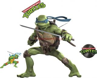 Choose Size Leonardo Ninja Turtles Decal Removable Wall Sticker Art Decor TMNT