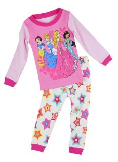 "Children Baby Toddler Kid Girls Sleepwear ""Princess' Cute Pajamas Set 2 7T"