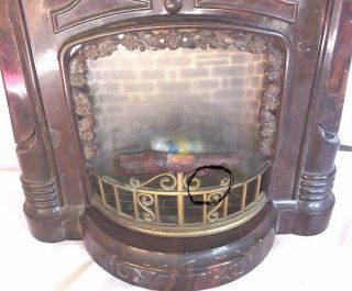 Mastercrafters Bakelite Fireplace Mantel Lighted Clock No 272
