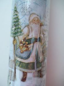 "Punch Studio Santa Wrapping Paper Christmas Gift Wrap 30"" x 10ft Reindeer Snow"