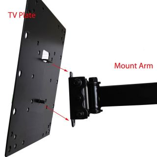 "Videosecu ML531B Articulating Wall Mount Black 22"" 37"" 66lbs and 10ft HDMI Cable"