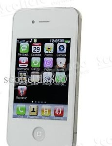 Fashion Unlocked 4 Band Dual Sim Card Touch Screen Smartphone White