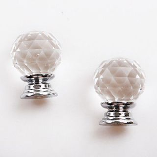 10pcs 26mm Cabinet Knob Drawer Diamond Shape Crystal Glass Pull Handle Furniture