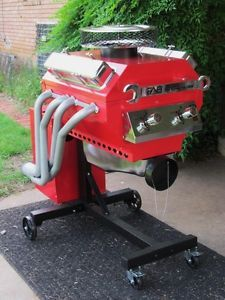 Brand New Hot Rod Gas Grill Red Fully Assembled