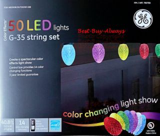 GE Color Changing LED Holiday String Light Bulb for Xmas Tree Outdoor Decoration