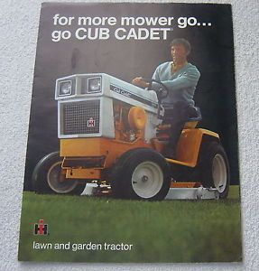 International IH Cub Cadet 149 129 108 109 128 86 Tractor Mower 1971 Brochure