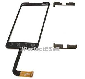 HTC EVO 4G Touch Screen Cracked Glass Digitizer Replacement Repair Part Adhesive