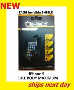 New ZAGG invisibleSHIELD iPhone 5 Full Body Maximum Max Screen Protector