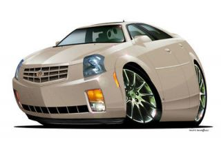 DB 2007 Cadillac cts Premium Cartoon Car Wall Graphic Home Decor Decal