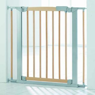 Pressure Fit Safety Gate Baby Dan Stair Gate Avantgarde Indicator Natural Silver