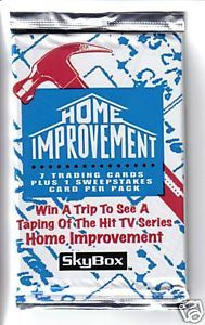 Home Improvement Trading Card Pack Fresh from Box
