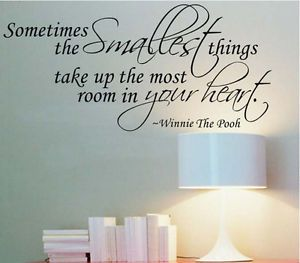 Something Smallest Removable Vinyl Quote Wall Sticker Decal Mural Kid Home Decor