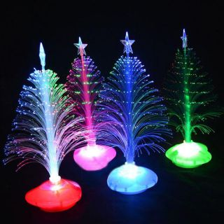One 30cm Color Changing LED Fiber Optic Christmas Tree Light Home Decoration