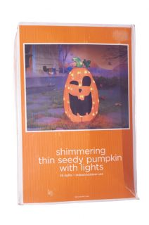 Orange Pumpkin Halloween Lawn Decoration Indoor Outdoor Lights Fall Harvest New