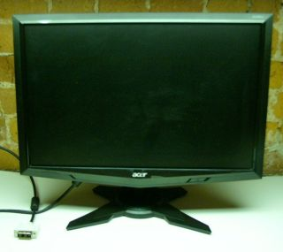 "Acer G195W 19"" Black LED LCD Monitor Widescreen Desktop Flat Screen Very Good"