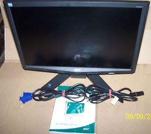 "Acer W193W 19"" Widescreen Computer Monitor w Manual Cable VGA DVI"