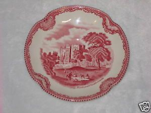 "Johnson Bros England ""Old Britain Castles"" Bowl Red"