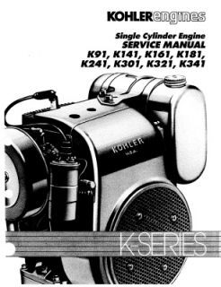 Kohler Engine Manual K91 K141 K161 K181 K241 K30 K321 K341 John Deere Toro Mower