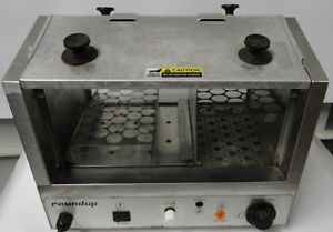 Roundup Hot Dog Hutch Steamer HDH 3 33 Capacity Commercial Kitchen Equipment