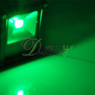 10W 85 265V Green LED Wash Flood Light Garden Lamp Outdoor Landscape 1000LM