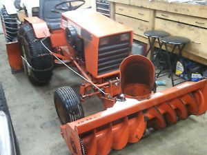 Case 444 Garden Tractor with Snow Blower Lawn Mower