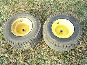 John Deere 160 Riding Lawn Mower Lawn Tractor Rear Wheels and Tires