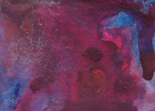 Loch Ness Monster Purple Surreal Abstract Art Painting