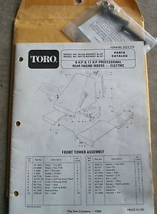 Toro 8 HP 11HP 56150 56170 Rear Engine Riding Lawn Mower Parts Catalog