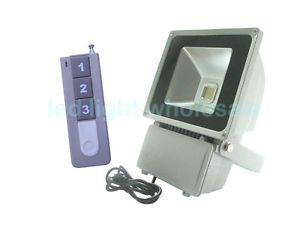 Dimmable 100W High Power LED Lamp Flood Light Outdoor Wireless Remote Control