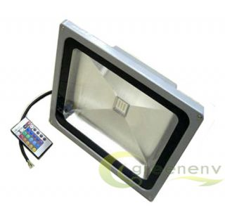 2012 50W RGB LED Color Change Flood Light Lamp 4000Lm 85 265V Outdoor Spotlight