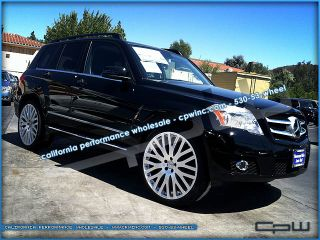 "22"" inch Hyper Silver Wheels Mercedes Benz GLK Rims w  w Tires"