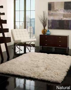 nuLOOM Natural Hand Woven Flokati Wool Shag Rug 3' x 5' Living Dining Room New