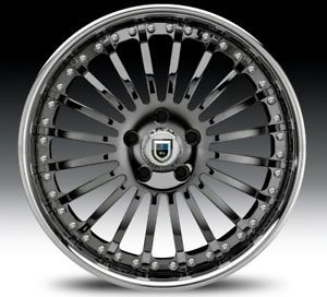 "22"" asanti AF122 Black Chrome Wheels Rims 2 Piece Tone"