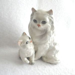 Vtg Lefton White Persian Cat Kitten Figurine