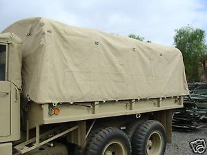 M36A2 A3 Deuce and A Half Long Wheel Base 17ft Desert Tan Cargo Cover Kit M35