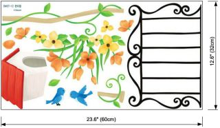 Birds Mailbox Wall Stickers Home Decor Vinyl Decals