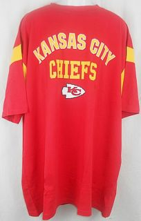 Kansas City Chiefs NFL Team Apparel Red Name Logo Tee Shirt Big Tall Sizes