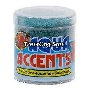 Zoo Med Aqua Accents Terminator Teal Betta Fish Aquarium Gravel Decoration