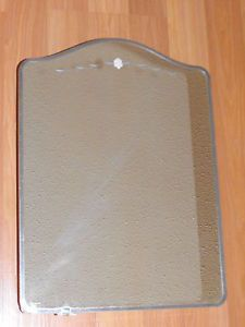 Old Vtg Arched Floral Etched Mirror Door Metal Bathroom Wall Medicine Cabinet