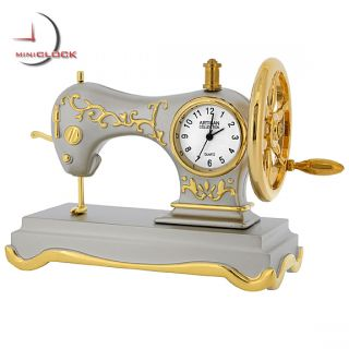 Mini Clock Singer Style Antique Sewing Machine