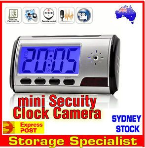 Mini Clock DVR Video Camera Spy Cam Hidden Security Motion Detection Recorder
