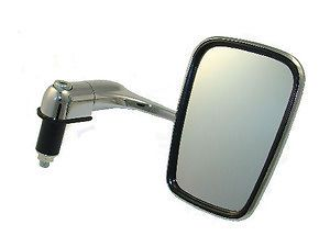 Chrome Bar End Mirror Mirrors Cafe Racer Clubman Honda Motorcycle Suzuki